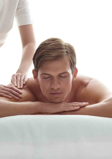 Man having a massage at the Vale Spa
