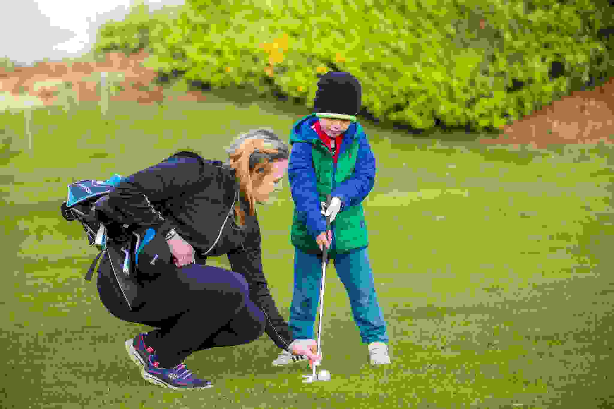 Junior golf lesson at the Vale Resort