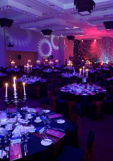 Charity dinner set up in Castle Suite - Vale Resort