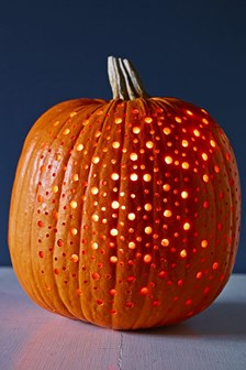 Pumpkins with holes in