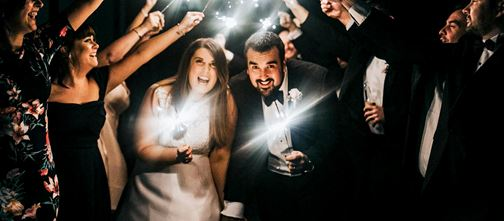 Sparklers Wedding Photo